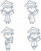Graduation Cartoon Boy