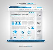 Quality clean web design template for blog and sites. Icons, header, carousel, infographics and a lot of icons.