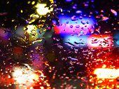 Colorful Raindrops Glass