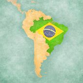 picture of south american flag  - Brazil  - JPG