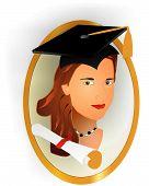 Picture Of A Female Graduate