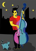 Man With A Double Bass
