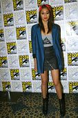 SAN DIEGO, CA - JULY 20: Meaghan Rath arrives at the 2013 Comic Con press room at the Hilton San Die