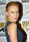 SAN DIEGO, CA - JULY 20: Kristen Hager arrives at the 2013 Comic Con press room at the Hilton San Di