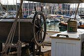 Wooden Wheel Sailboat