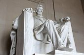 stock photo of abraham lincoln memorial  - Washington DC capital city of the United States - JPG
