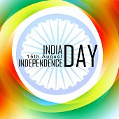 vector indian independence day design with flag