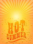 Sun Sunburst Pattern. Hot Summer