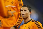 BARCELONA - JAN, 12: Cristiano Ronaldo of Real Madrid during the Spanish League match between Espany