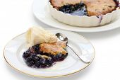 blueberry cobbler, traditional american dessert