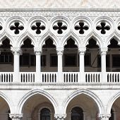 Colonnade of Doge's Palace, Venice, Italy