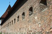 Defensive Wall Of A Medieval Castle