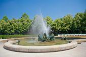 Fountain In Medical Garden (medická Záhrada) In Bratislava, Slovakia