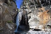 - Waterfall At Johnston Canyon Banff