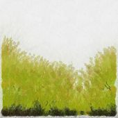 Watercolour Green Grass Background
