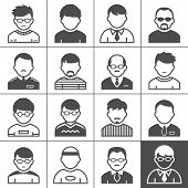 Users icons. Occupation and people. Vector illustration. Simplus series