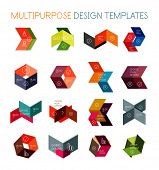 Collection of paper arrow multipurpose business templates
