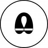 inflatable life vest symbol