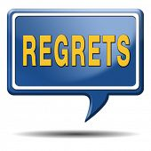stock photo of saying sorry  - regret or no regrets saying sorry and offer apologize being ashamed for bad decisions - JPG