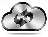 data exchange and storage cloud upload and download files from cloud interface button or icon