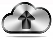 cloud data upload icon uploading file document photo music or video on cloud  storage database as a
