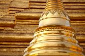 Golden pagoda �¢�?�? elements of Shwedagon Paya in Yangon, Myanmar
