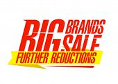 Big brands sale design template.