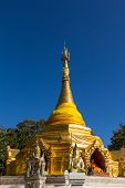 Pagoda Of North Thai Style At Waing Haeng, Thailand