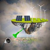 Green energy. Sustainable development and power and fuel generation.