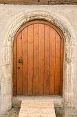 Old Wooden Front Door In Tuebingen, Germany