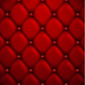 Red buttoned leather upholstery background - eps10 vector
