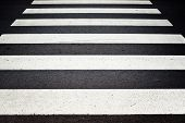 picture of zebra crossing  - Zebra pedestrian crossing as urban background image - JPG