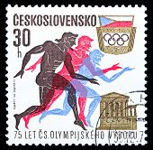 Czechoslovakia Stamp, Olympic Committee Anniversary