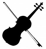 Fiddle Silhouette