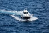 pic of messina  - PIlot boat in the Mediterranean Sea near the Straights of Messina - JPG