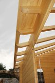 Wooden House Roof Construction