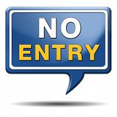 foto of no entry  - no entry access denied staff and members only password required restricted area - JPG