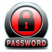 Password button data protection by using strong safe passwords protected recover and change for secu