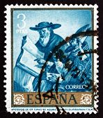 Postage Stamp Spain 1962 Apotheosis Of St. Thomas Aquinas