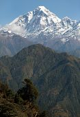 View Of Mount Dhaulagiri - Nepal