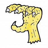 cartoon bird claw