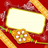 stock photo of rakhi  - vector illustration of beautiful rakhi on Raksha Bandhan background - JPG