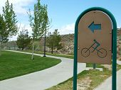 picture of bike path  - sign - JPG