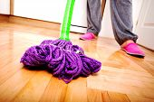 cleaning and doing the housework