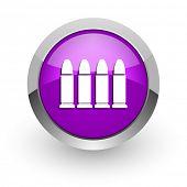ammunition pink glossy web icon