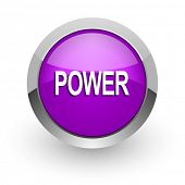 power pink glossy web icon