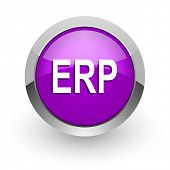 erp pink glossy web icon