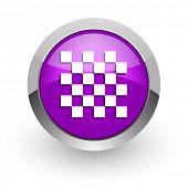 chess pink glossy web icon