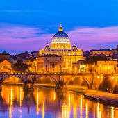 View at St. Peter's cathedral in Rome, Italy