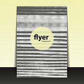 Flyer or Cover Design with Dotted Lines Pattern